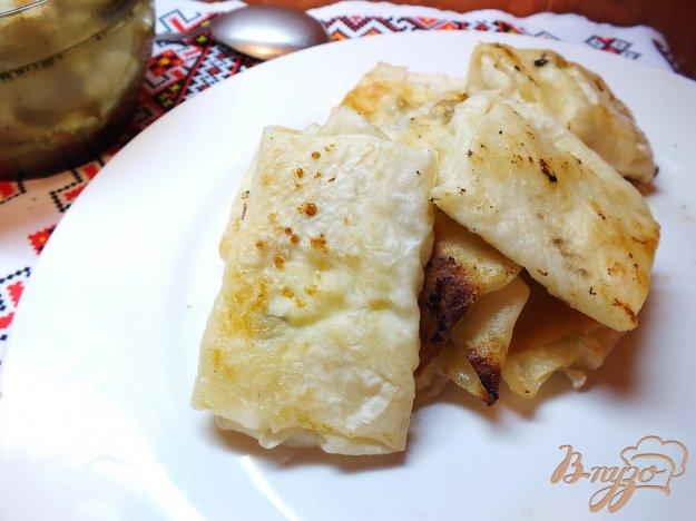 Рецепт Конверты из лаваша с творогом, зеленым луком и шпинатом