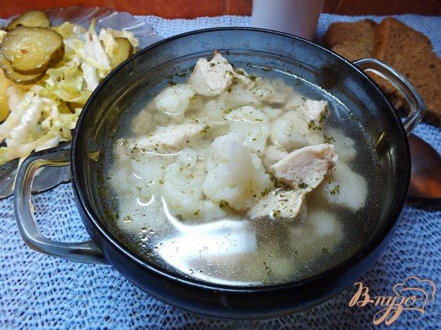 фото рецепта: Суп мясной с цветной капустой и прованскими травами
