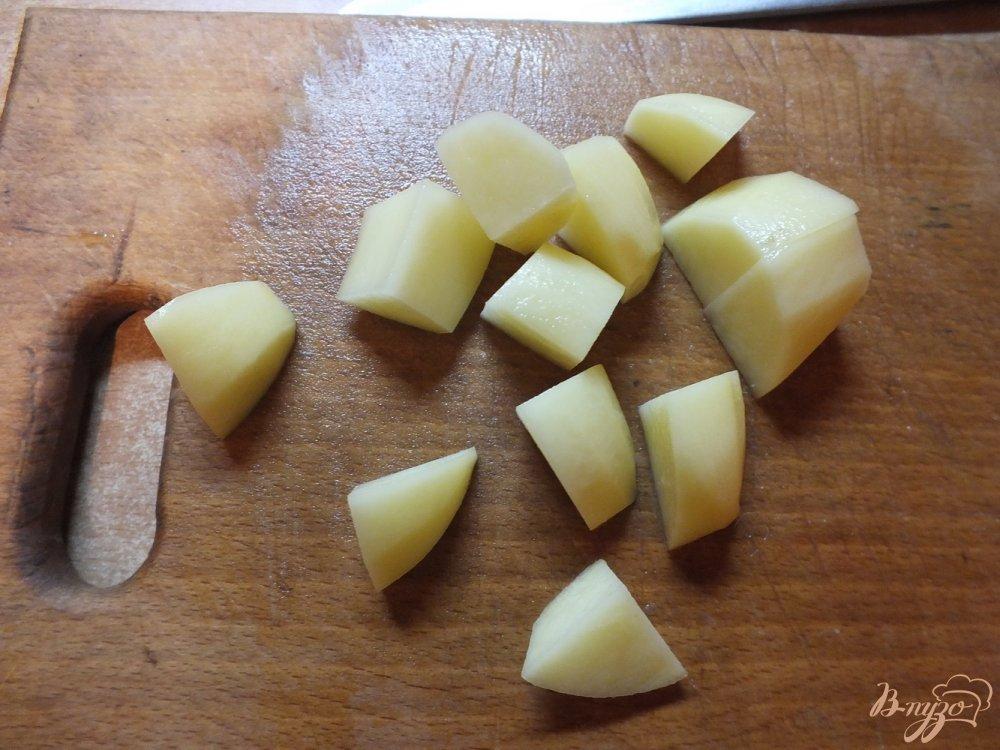 Фото приготовление рецепта: Суп картофельный с говядиной шаг №4
