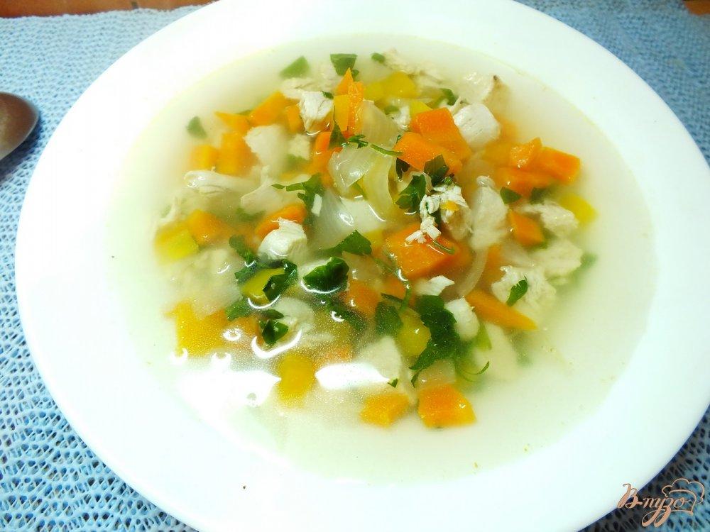 Фото приготовление рецепта: Суп с печеным репчатым луком шаг №8
