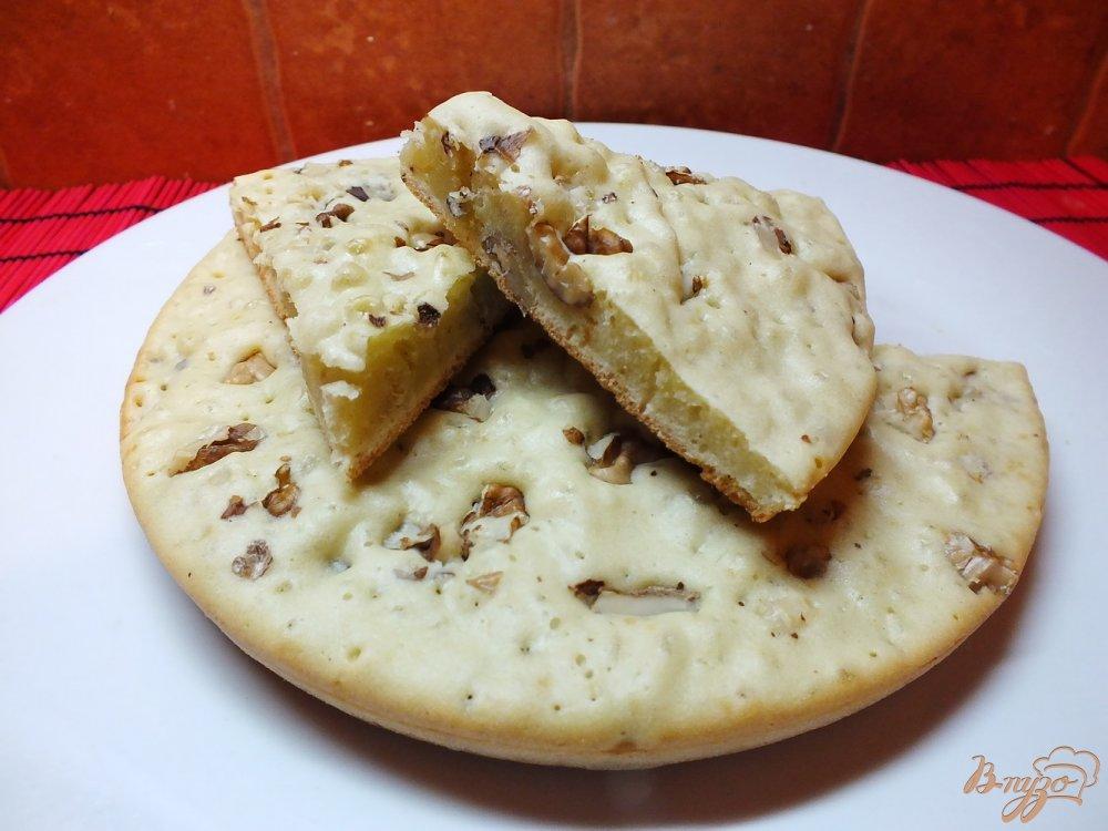 Фото приготовление рецепта: Пирог соленый ореховый на растительном масле шаг №9