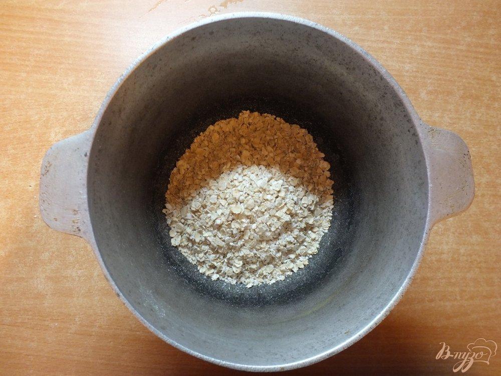 Фото приготовление рецепта: Гарнир из овсяной каши с овечьей брынзой шаг №1