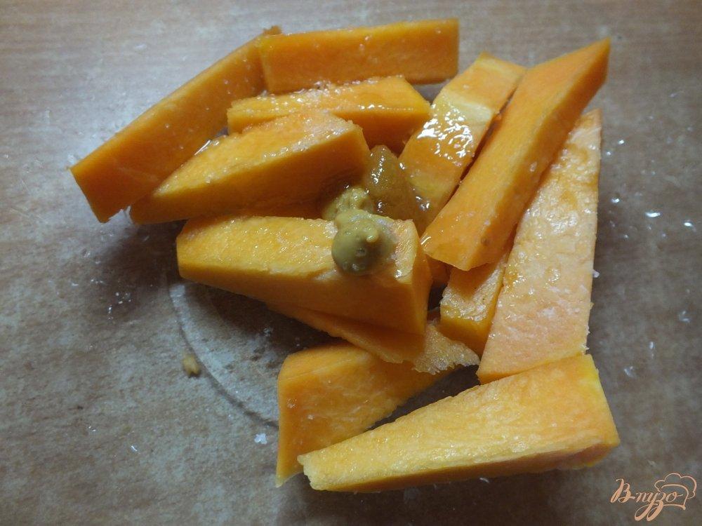 Фото приготовление рецепта: Закусочные палочки из тыквы шаг №3