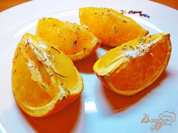 Рецепт Десерт из апельсина запеченного в роме с розмарином
