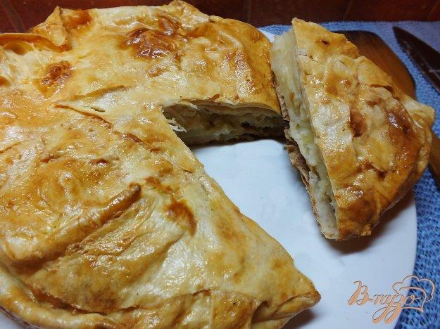 фото рецепта: Пирог с картошкой и брынзой ил листового лаваша