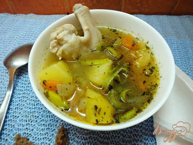 Луковый суп с луком пореем