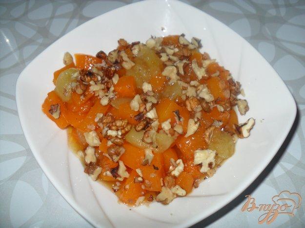 фото рецепта: Тыква с яблоками на сковороде