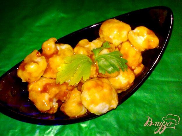 Рецепт Цветная капуста в остром соусе