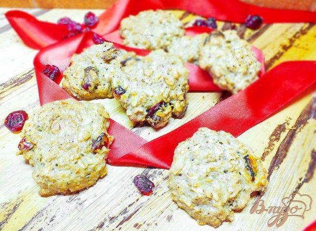 Рецепт Печенье овсяное с вяленой вишней и корицей