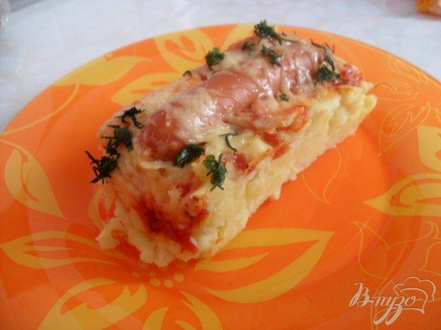 Рецепт Картофельная запеканка с сосисками и сыром