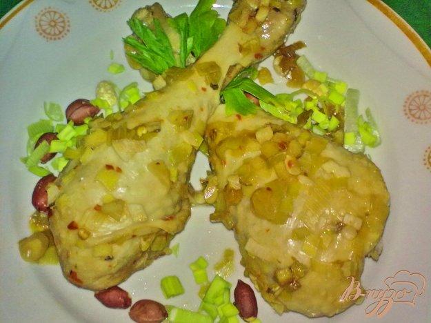 Рецепт Куриные ножки с арахисом на пару