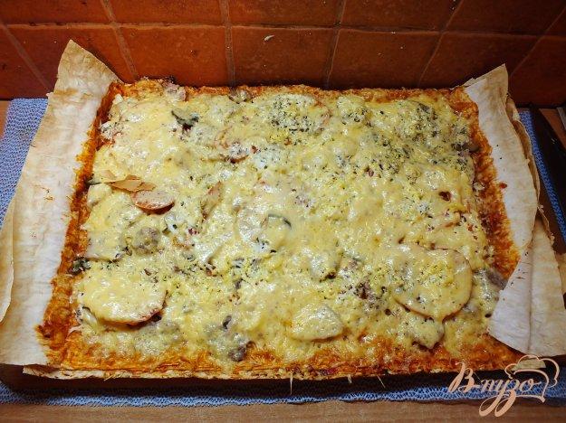 Рецепт Пицца на корже из лаваша с говядиной