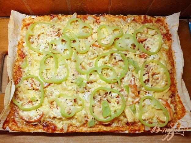Рецепт Пицца куриная с болгарским перцем и ананасом