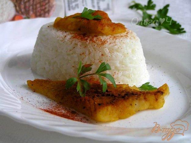 фото рецепта: Треска с паприкой с рисом