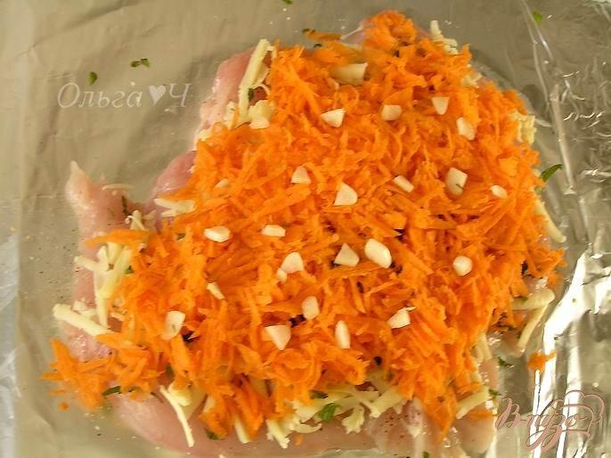 Куриный рулет с мятным сыром и морковью