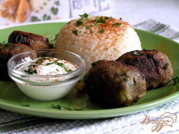 Рецепт Кефте с йогуртовым соусом и рисом