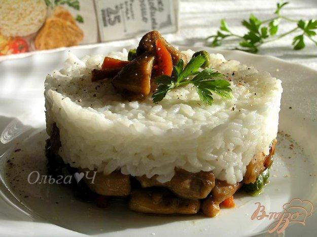Рецепт Соте из курицы с овощами и рисом