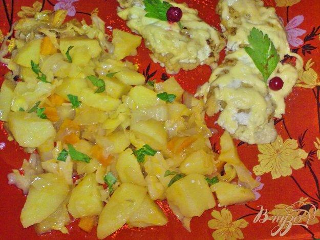 фото рецепта: Картофель в соусе с овощами