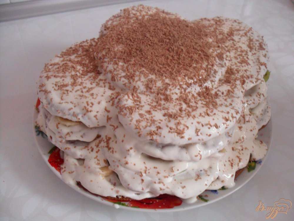 Фото приготовление рецепта: Очень быстрый тортик