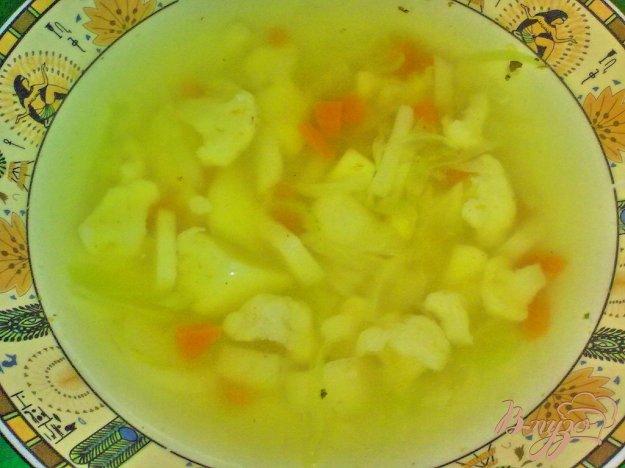 фото рецепта: Суп с двумя видами капусты