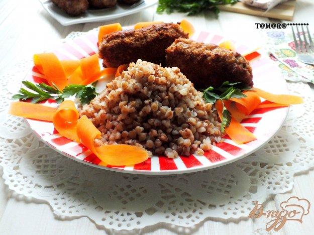 Рецепт Гречка с мясными палочками