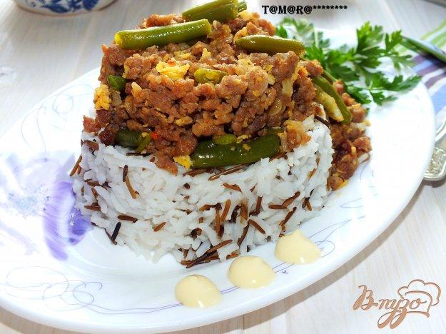 фото рецепта: Рис с фаршем и стручковой фасолью