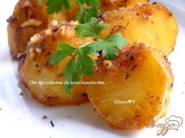 Рецепт Картофель в томатно-соевом соусе с базиликом