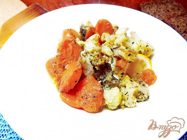 Рецепт Пангасиус запеченый с овощами