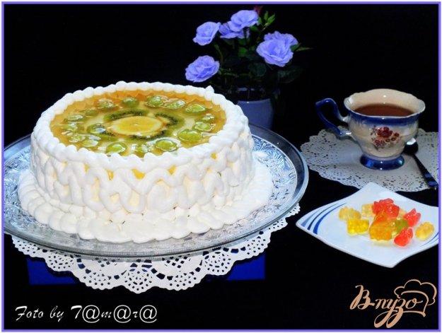 Рецепт Торт творожный с фруктами