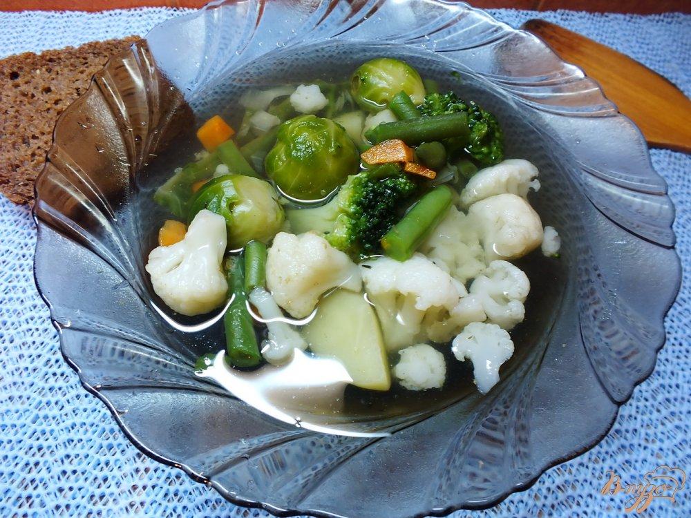 Фото приготовление рецепта: Суп с капустой брюссельской шаг №6