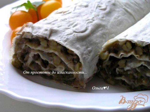Рецепт Закусочный рулет из лаваша с машем