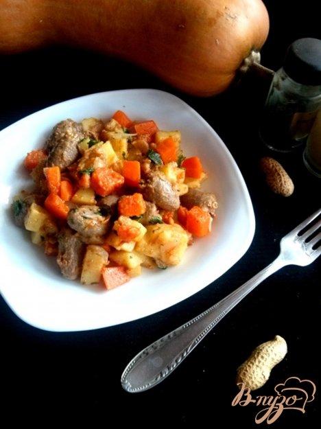 Рецепт Горячий салат с ореховой пастой