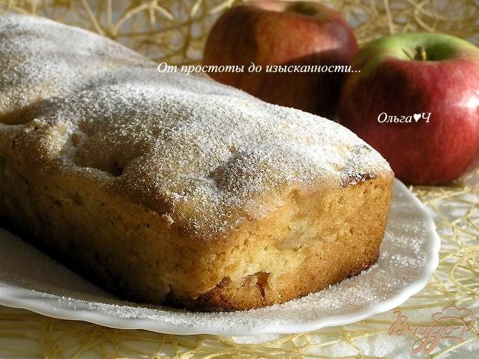 Фото приготовление рецепта: Постный кекс с яблоками шаг №6