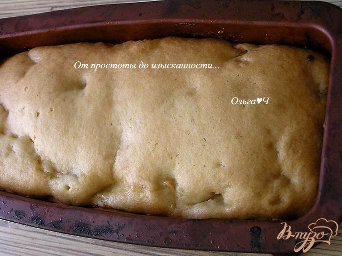 Фото приготовление рецепта: Постный кекс с яблоками шаг №5