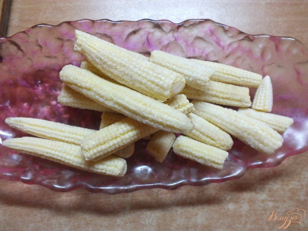 Фото приготовление рецепта: Суп с початками кукурузы и черри шаг №1