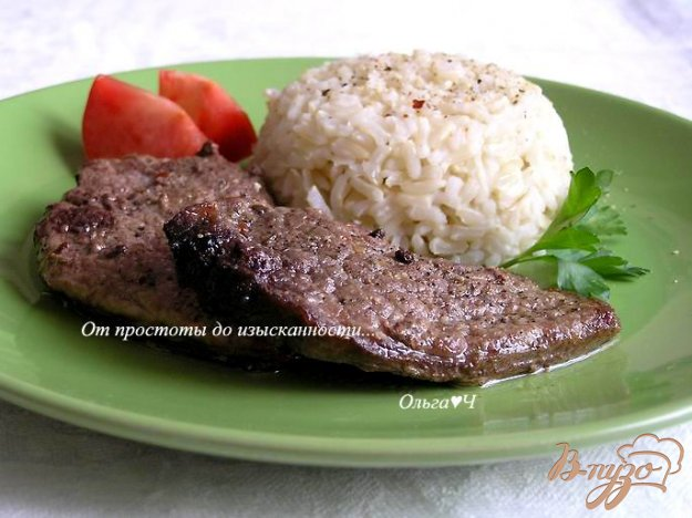 Рецепт Отбивные из телятины с рисом