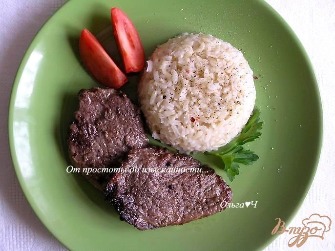 Фото приготовление рецепта: Отбивные из телятины с рисом шаг №4