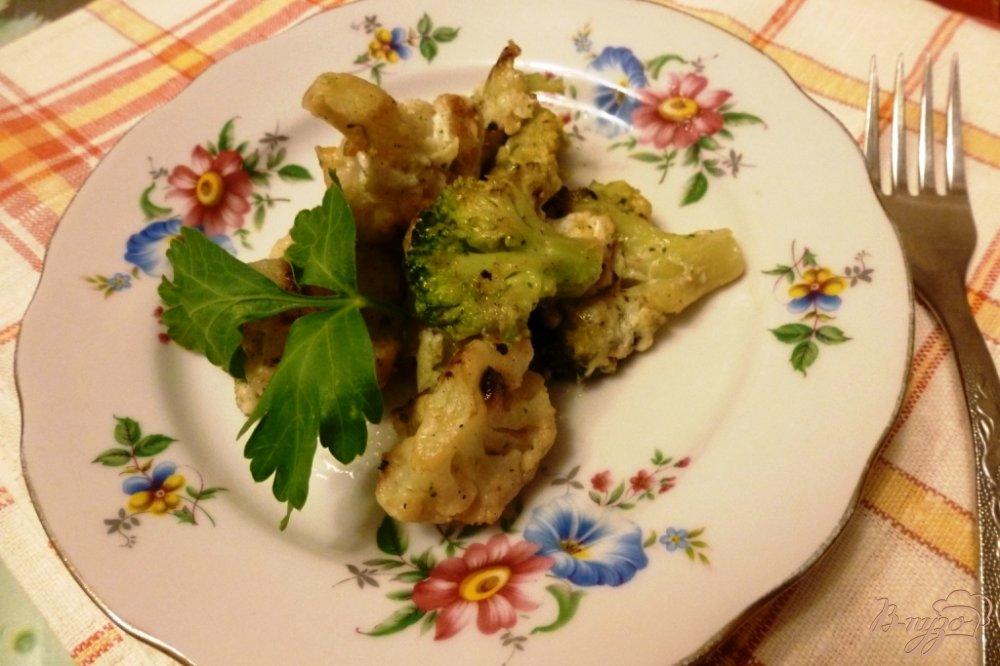 Фото приготовление рецепта: Гарнир из брокколи и цветной капусты шаг №5