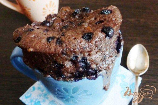 Рецепт Черничный кекс в кружке