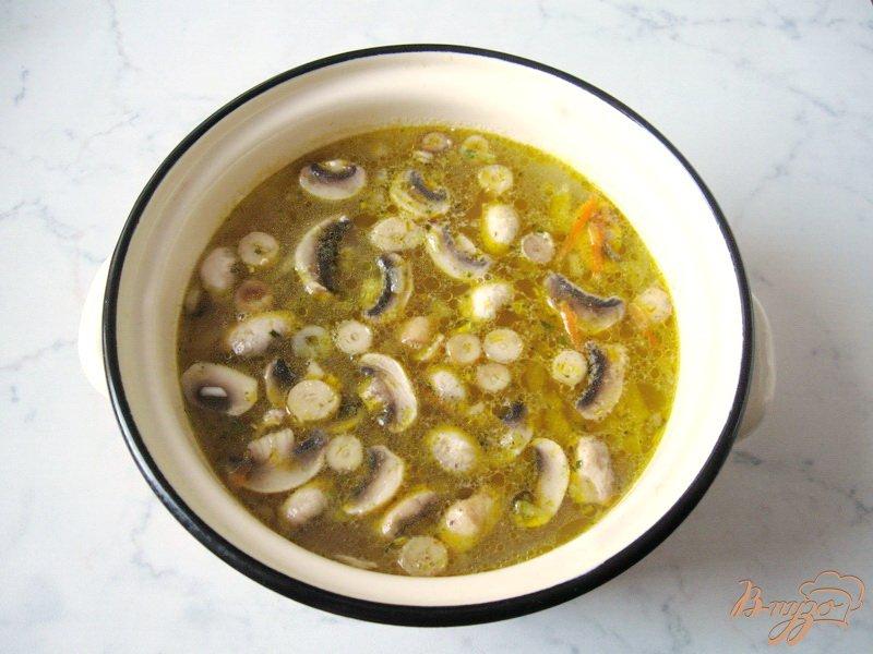 Фото приготовление рецепта: Рассольник с грибами шаг №5