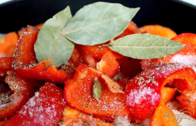 Фото приготовление рецепта: Печеночный паштет с овощами шаг №6