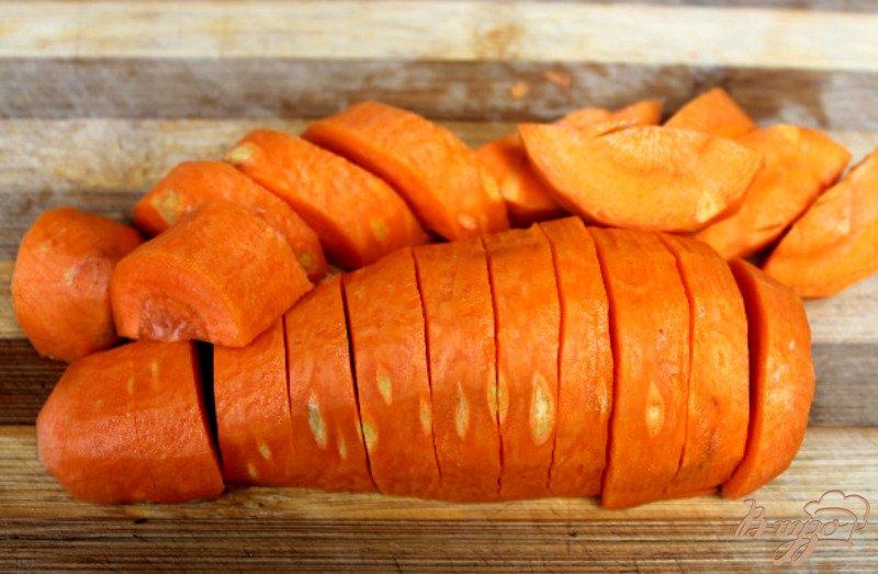 Фото приготовление рецепта: Печеночный паштет с овощами шаг №4