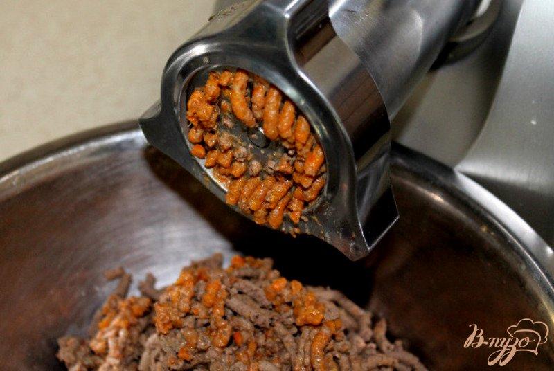 Фото приготовление рецепта: Печеночный паштет с овощами шаг №7