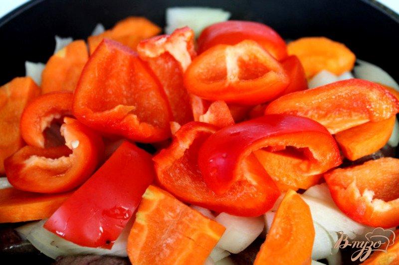 Фото приготовление рецепта: Печеночный паштет с овощами шаг №5