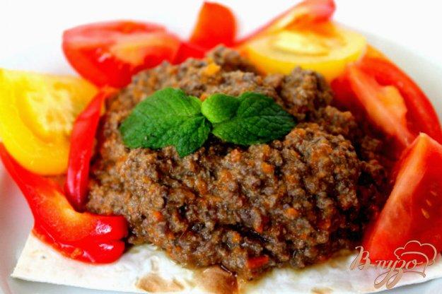 фото рецепта: Печеночный паштет с овощами