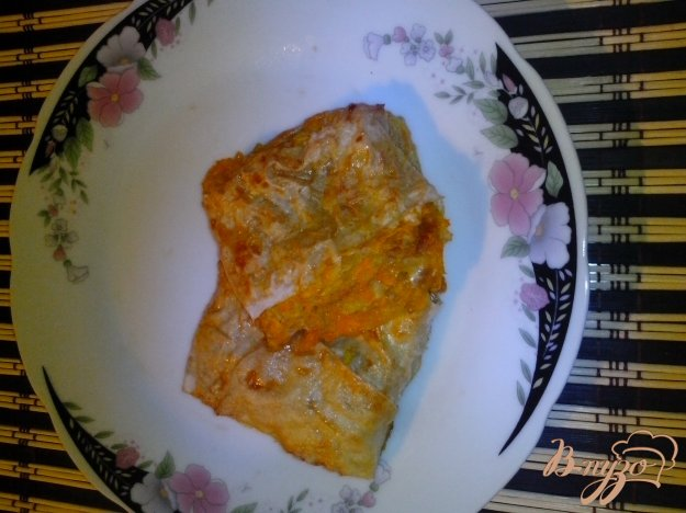 Рецепт Рулетики из лаваша с тыквой