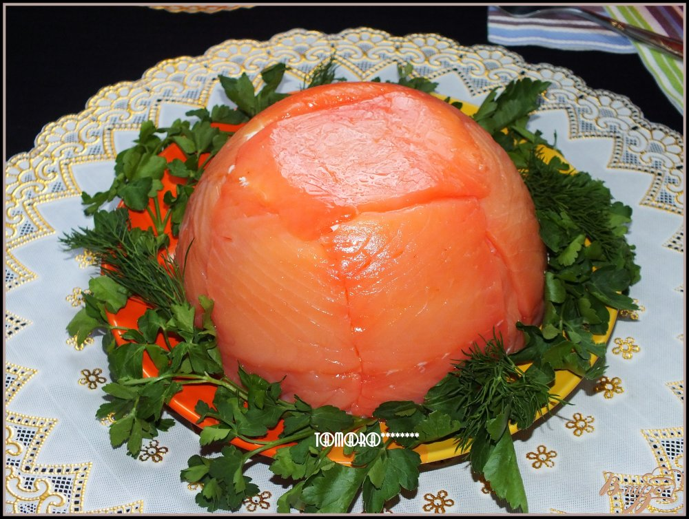 Фото приготовление рецепта: Торт рыбный