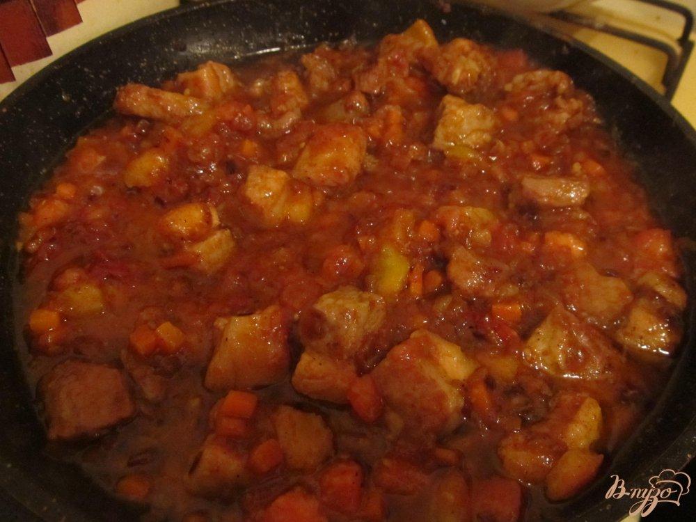 Фото приготовление рецепта: Бограч из свинины шаг №7