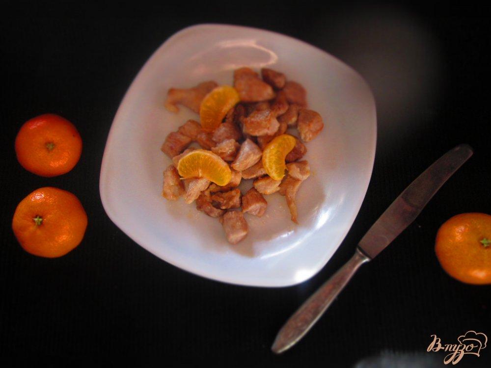 Фото приготовление рецепта: Фруктовая свинина шаг №4