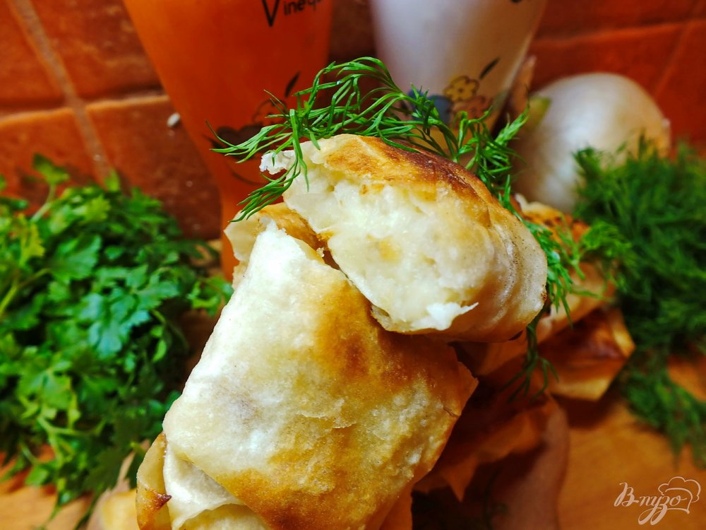 Фото приготовление рецепта: Пирожки с картошкой из лаваша шаг №11